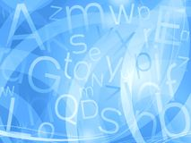 Blue letters background Stock Photos
