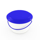 Blue lid and bucket Royalty Free Stock Photo