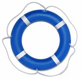 Blue Lifebuoy Ring. A blue lifebuoy ring isolated on a white background royalty free stock photography