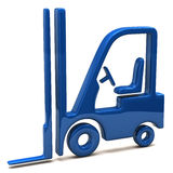 Blue lift truck icon Royalty Free Stock Image