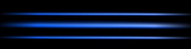 Blue light. Blue, neon light on a black background Stock Photography