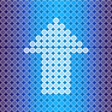 Blue light Arrow background Royalty Free Stock Photo