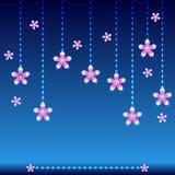 Blue light background flower Stock Images