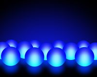 Blue Light Balls Stock Photos