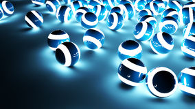 Blue Light Balls Background Stock Photo