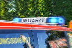 Blue light bar from a german Notarzt, emergency doctor car. A blue light bar from a german Notarzt, emergency doctor car Royalty Free Stock Photography