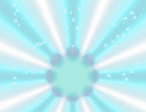 Blue light and beam abstract background Royalty Free Stock Image
