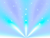 Blue light and beam abstract background Royalty Free Stock Photography