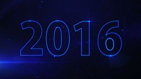 Blue light beam 2016 stock footage