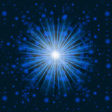 Blue light beams Stock Photography