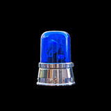 Blue light on black background Royalty Free Stock Image