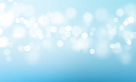Blue light bokeh flare glitter or sparkling vector background Stock Images