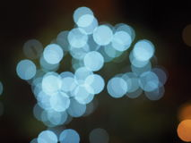 Blue light bokeh Stock Images