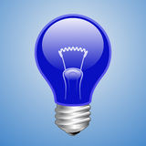Blue light bulb Stock Photos