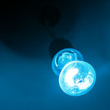 Blue light of bulb Royalty Free Stock Photography