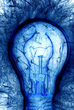 Blue Light Bulb Stock Photography