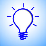 Blue light bulb Royalty Free Stock Photos