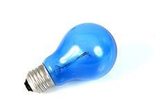 Blue light bulb 4 Stock Photography