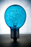 Blue light bulb Stock Photo