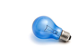 Blue Light Bulb Royalty Free Stock Photography