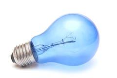 Blue light bulb. Blue light bulb isolated on white Royalty Free Stock Images