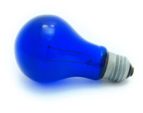 Blue light bulb Royalty Free Stock Images