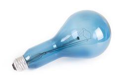 Blue Light bulb isolated white background. Stock Image