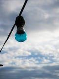 Blue light bulb Stock Photo