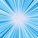 Blue light burst Stock Photography