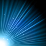 Blue light burst Stock Image