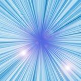 Blue light burst Royalty Free Stock Photography