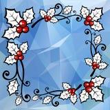 Blue light christmas border Stock Image