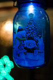 A blue light Christmas decoration Royalty Free Stock Images