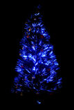 Blue Light Christmas-Tree Stock Photography