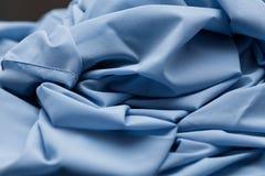 Blue light cloth, fabric, textile Stock Photo