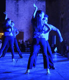 Blue Light Dancers Stock Photo