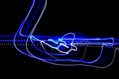 Blue light in the dark Stock Photography