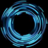 Blue light effects. EPS 10. Blue light effects on round placeholder for your text on dark background. EPS 10 vector file included vector illustration