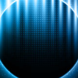 Blue light effects on metal pattern Royalty Free Stock Images