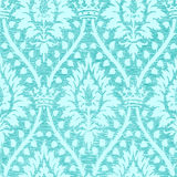 Blue light floral seamless pattern with crown vintage background  Royalty Free Stock Photo