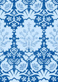Blue light floral seamless pattern vintage background  Royalty Free Stock Photo