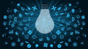 Blue, Light, Font, Computer Wallpaper royalty free stock photos