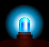 Blue Light. Garishly shining blue light of an emergency vehicle. Isolated vector on black background Royalty Free Stock Photo