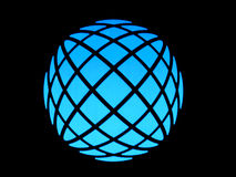 Blue light globe Stock Photo