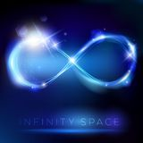 Blue light infinity symbol with lights effects