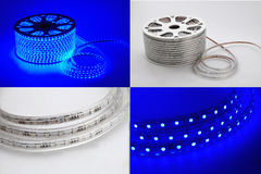 Blue light led  belt, led strip,lamp belt,lighting belt Stock Images