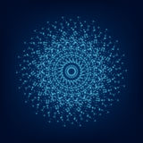 Blue light mandala. Abstract vector ornament Royalty Free Stock Photography