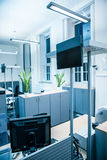 Blue light open room office Royalty Free Stock Photos
