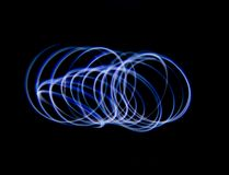 Blue Light Painting. Using leds , special filters and a long exposure Royalty Free Stock Images