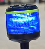 Blue light of the police motorcycle Royalty Free Stock Images